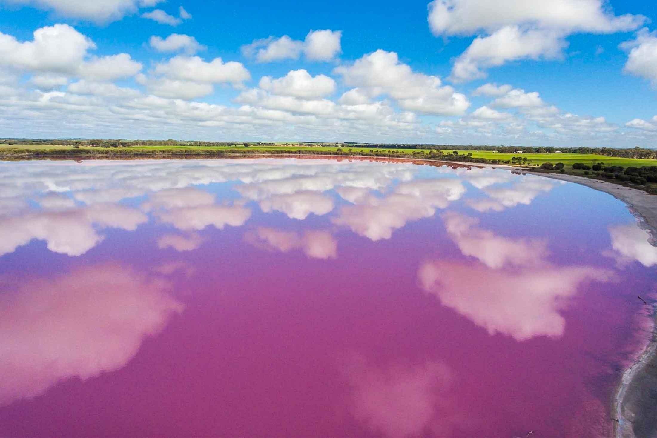 pink lake horsham - vic